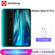 "Global Versie Xiaomi Redmi Note 8 Pro 6 Gb 128 Gb/64 Gb Smartphone 64MP Quad Camera Helio G90T octa Core 6.53 ""Scherm 4500 Mah Nfc(Hong Kong,China)"