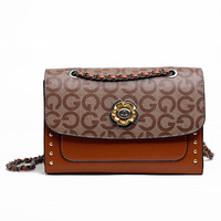 Women Bags Leather Embroidery Messenger Bag Chain Shoulder Bags Brand Embossed Bag Fashion Wallet G Letter Clutch Bag