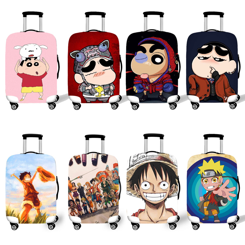 Elastic Luggage Protective Cover Case For Suitcase Protective Cover Trolley Cases Covers 3D Travel Boy  Shinchan T3333  Pattern1