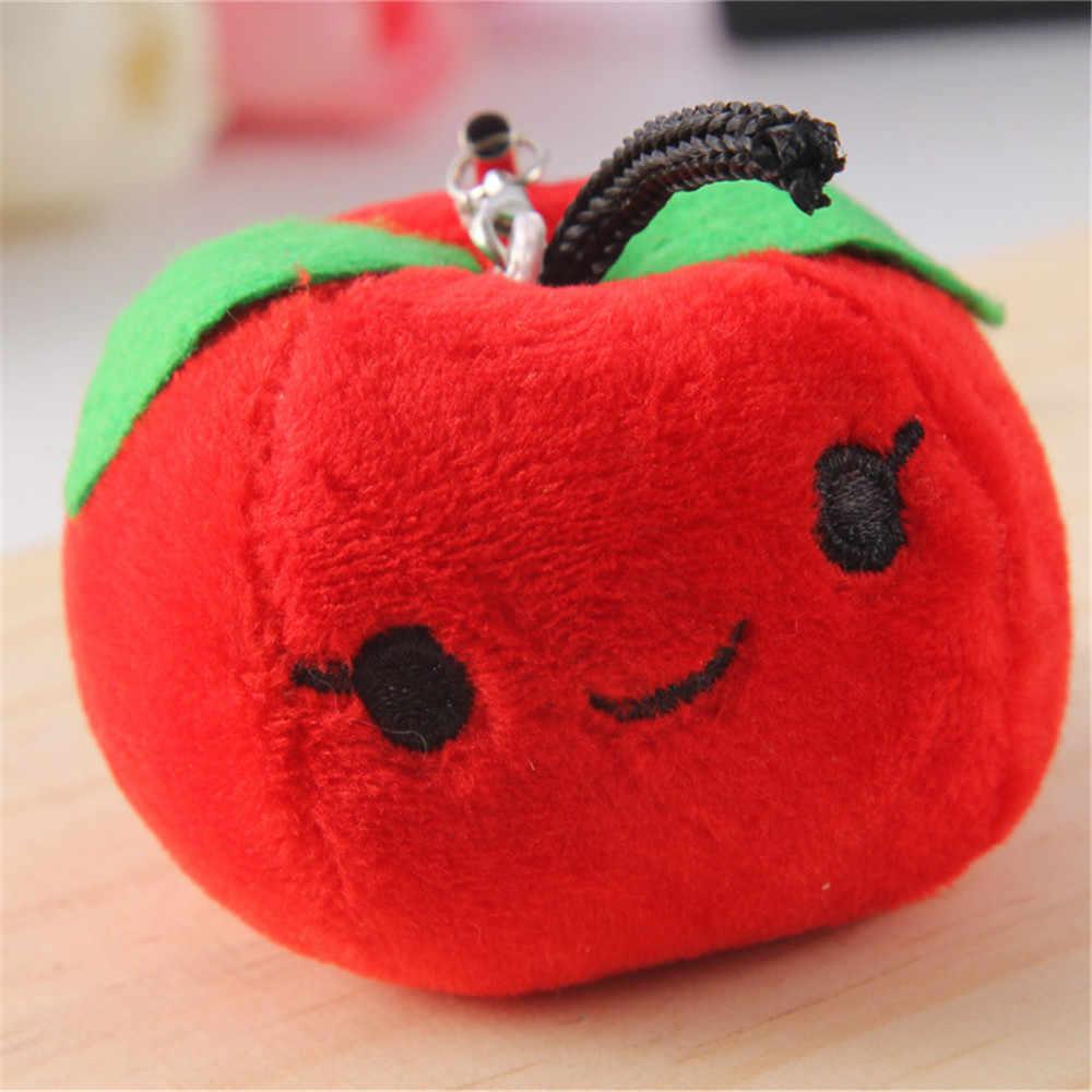 1Pc Portachiavi di Peluche Bella Frutta Verdura Bambole di Peluche Del Pendente Sveglio della Frutta Anello Bambola di Pezza Giocattoli Della Catena Chiave Regali Di Natale