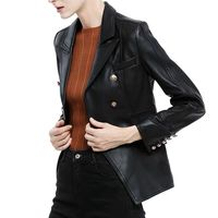 Real leather jacket female leather coat women body suit black genuine sheepskin dermal leather jackets female za 2019