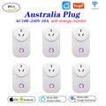 Умная розетка Tuya Wi-Fi  6 шт.  умная розетка  австралийская вилка  10 А  дистанционное управление  Alexa  Google Home  энергетический монитор