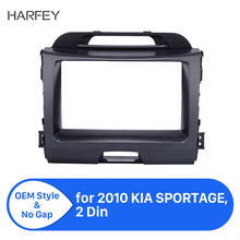 Harfey Superb 2Din Car Radio Fascia for KIA SPORTAGE 2010+ Stereo Interface Audio Fitting Adaptor Trim Panel Kit Car Accessories