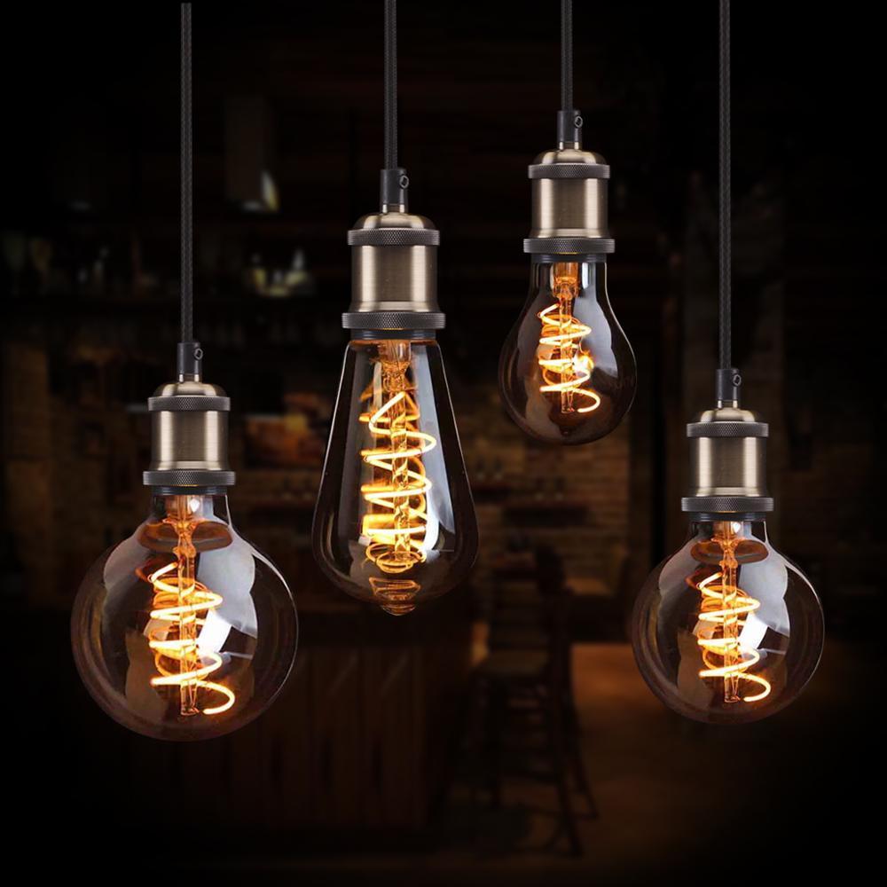 Antique Edison Bulb E27 Screw Incandescent Xmas Decor Industrial Light Lamp 60W