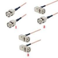 Conector macho BNC de ángulo recto para cámara de transmisión de señal de vídeo SDI, cable Coaxial RG316 de 50 ohm