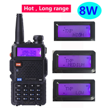 2020 راديو vhf uhf 136 174mhz 400 480mhz FM محطة راديو 15 كجم 8 واط لاسلكي uv5r baofeng uv 5r 8 واط مع راديو ثنائي النطاق Cb