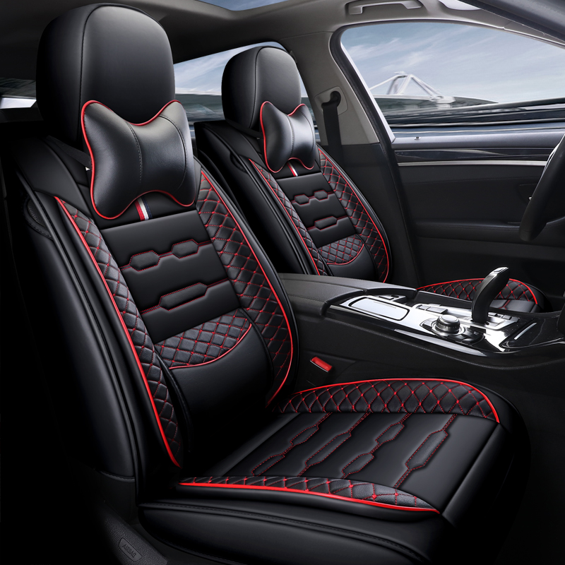 Volvo V40 V50 V60 V70 V90 XC60 XC70 ALL BLACK Cloth Seat Cover Set Split Rear Seat