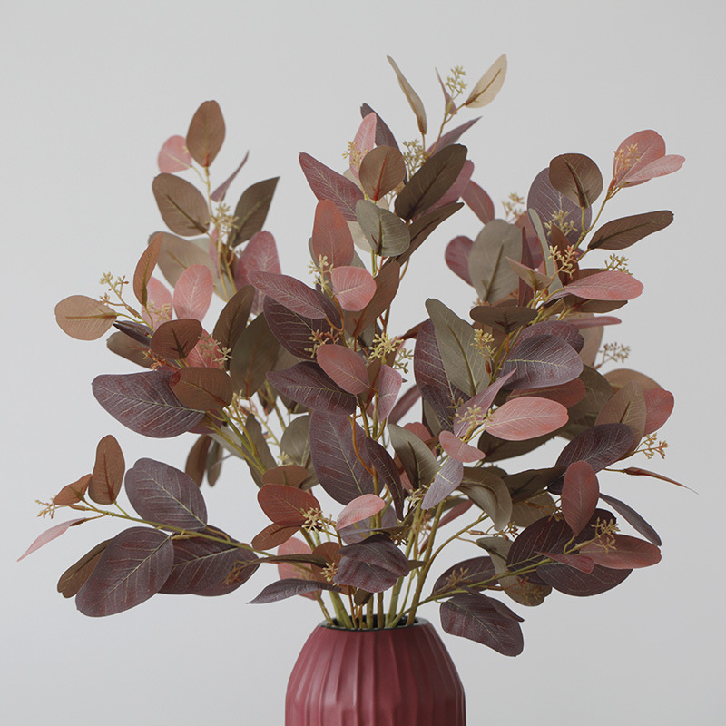 Artificial plants Vintage Silk Fake Flower Eucalyptus Wedding Flowers Decor Party Festival Supplies Home Hotel decor Gift Indoor