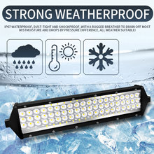 1 Pcs Bar 5 Rows 88 Chip 264w 26400lm Led Light Car Tractor Truck Headlight Boat Off Road