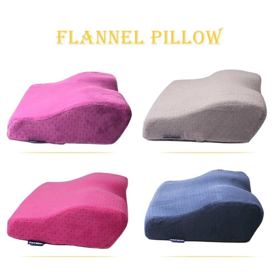 Almohada de extensión de pestañas profesional, almohada de Fannel suave para extensión de pestañas, almohada de diseño curvado buena para la salud