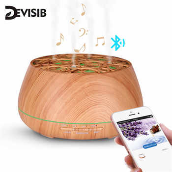 DEVISIB Bluetooth Speaker Aroma Essential Oil Diffuser Waterless Auto Shut-off 7 Color Changing LED Lights Ultrasonic Humidifier - Category 🛒 All Category