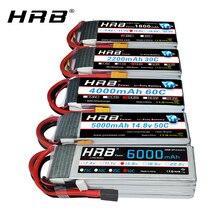 HRB 4s Lipo batterie 14.8v 5000mah 6000mah 4s 2200mah 3300mah, 4200amh 12000mah RC lipo Dean pour voiture rc, hélicoptère