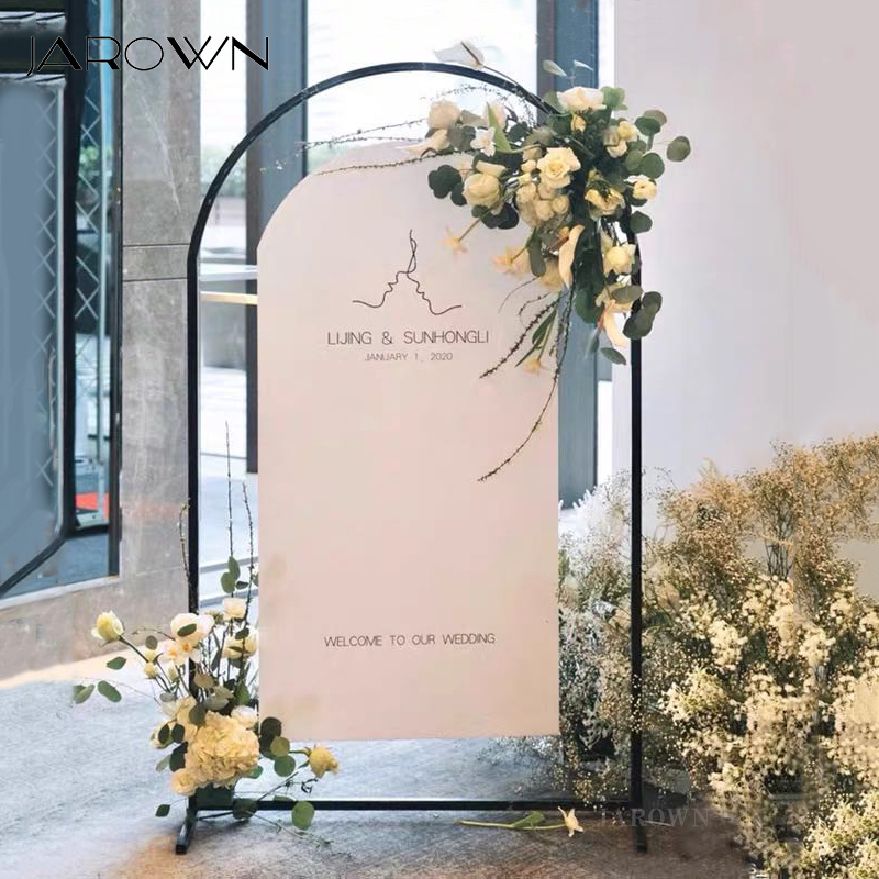 JAROWN Wedding Props Round Arc Wrought Iron Arch Background Screen Decoration Stand Home Birthday Party Balloon Arch Decoration