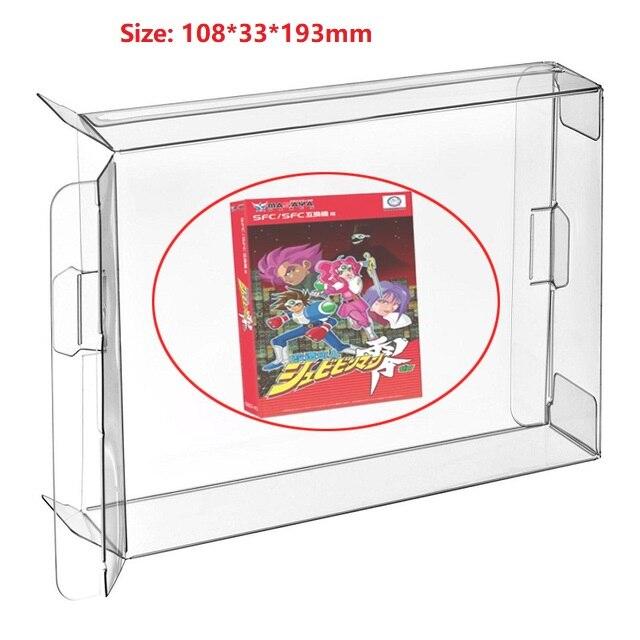 Ruitroliker 10pcs CIB Game Box Cartridge Case Protector Sleeve For SFC Games Box Protector Japan Version
