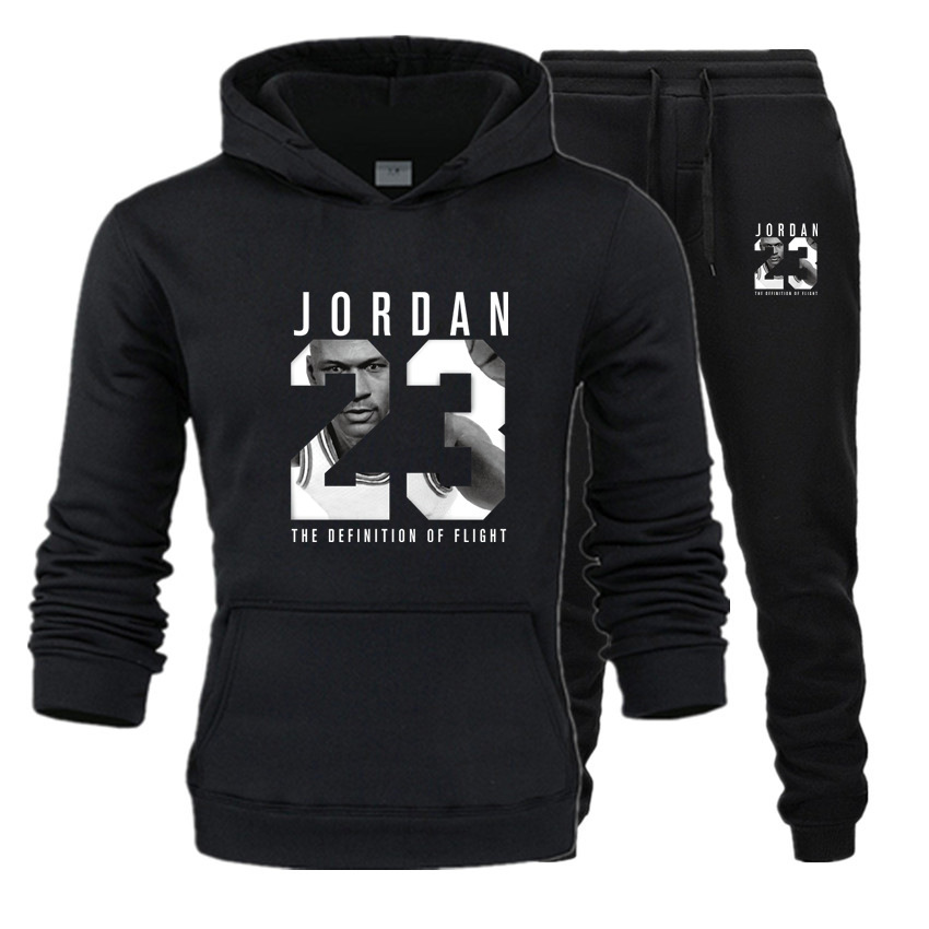Popular Brand Basketball Pullover Hoody Men's AJ Set Sports Loose-Fit Hooded 23 Nike Air Jordan Avatar And