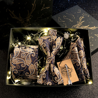 Fashion Tie Men's Wedding Tie Box Graduation Gift Boy's Birthday Gift Set Ties for Men Tie Necktie