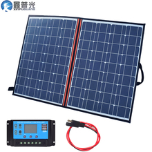 110w 120w140W 100w 18V Solar Panel Portable Foldable Flexible home outdoor kit +10A Controller 5v usb for 12v battery car travel цена и фото