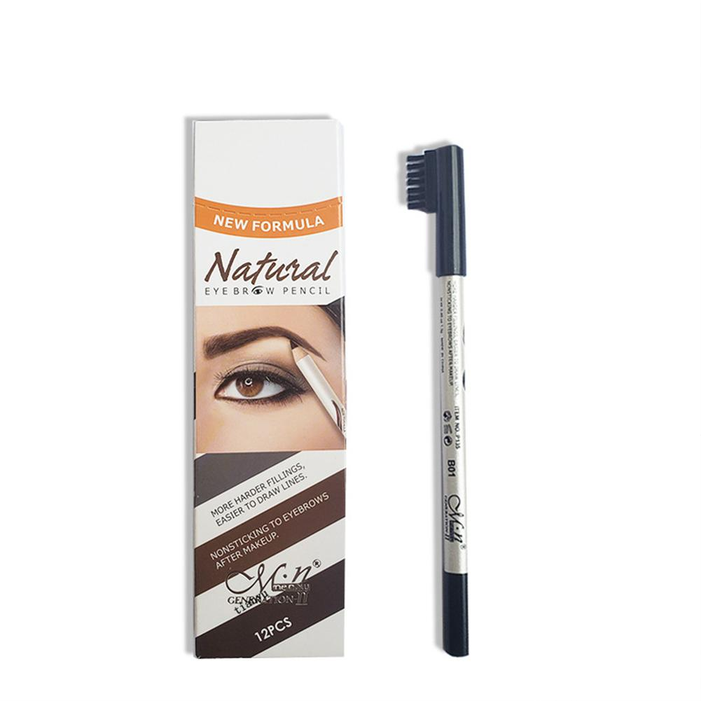 XY Fancy Eyebrow Pencil Waterproof Quick Dry Eyebrow Pen with Brush Beauty Makeup Cosmetic Tools image