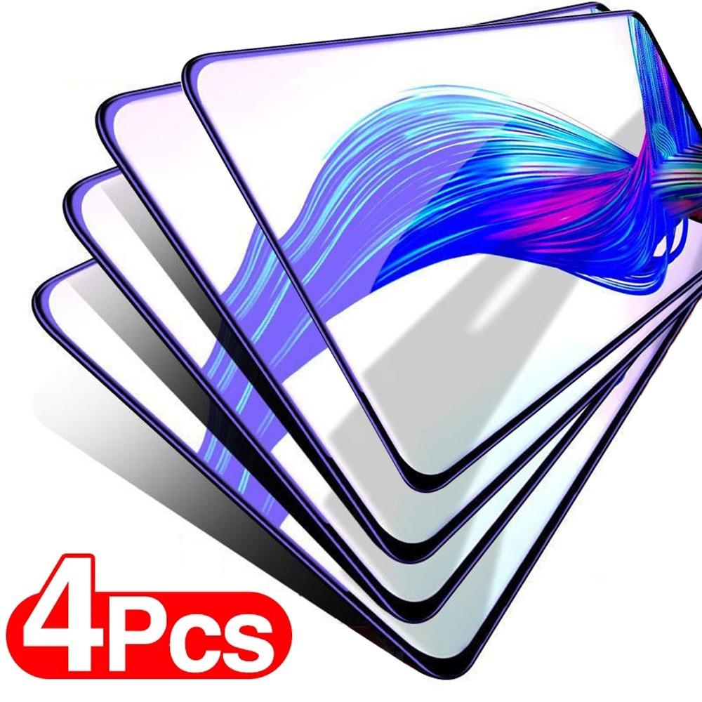 4Pcs Vidro Temperado sobre Para Samsung Galaxy A51 A50 A12 A11 A40 A70 A20e A30s A10 A71 A31 A21s M51 M21 M31s vidro Protetor de Tela