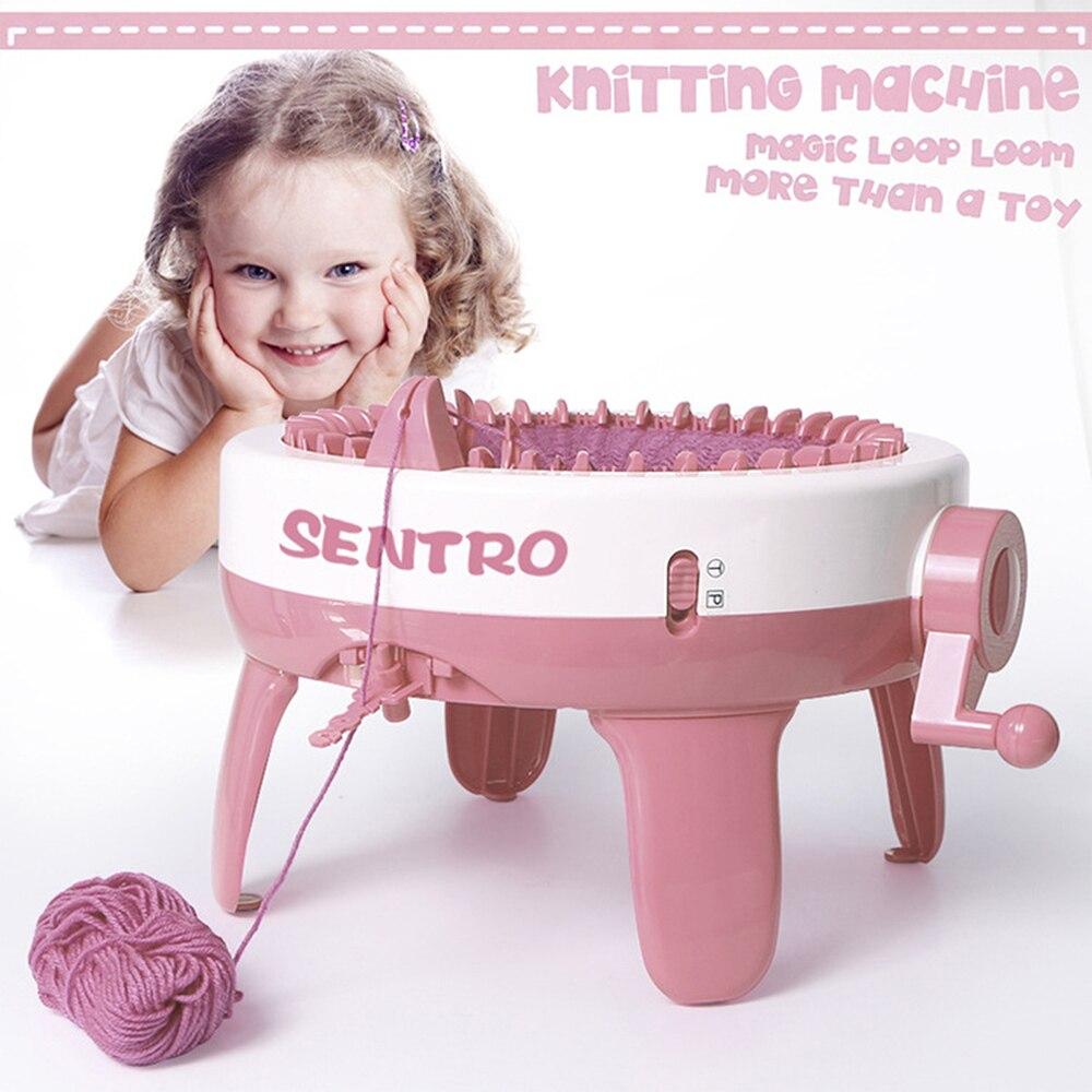 40 Needle Hand Knitting Wool Machine Children DIY Crafts Cylindrical Knitting Tools Adult Children Scarf Socks Crochet Knit Toy