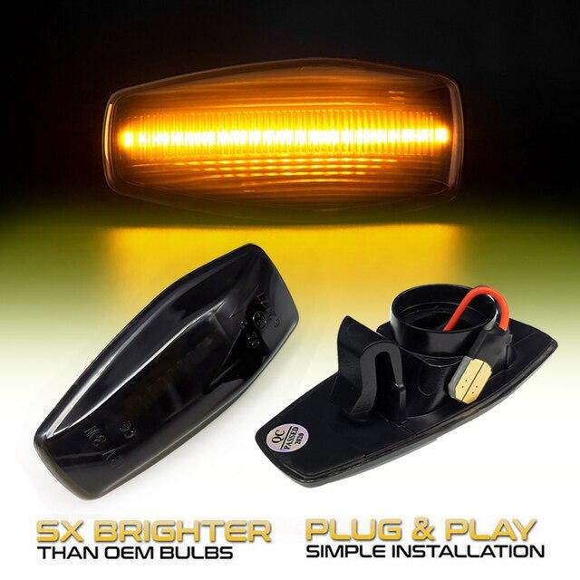 2 adet Hyundai akan su göstergesi LED yan işaretleyici dönüş sinyal ışığı Accent LC Trajet Coupe Excel 2 Verna 2 I10 Getz