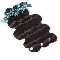 RosaBeauty Body Wave Brazilian Hair Weave Bundles 3 4 Bundles Natural Black Remy Human Hair Extension 8 28 30 Inch Double Drawn