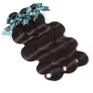 RosaBeauty Body Wave Brazilian Hair Weave Bundles 3 4 Bundles Natural Black Remy Human Hair Extension 8- 28 30 Inch Double Drawn
