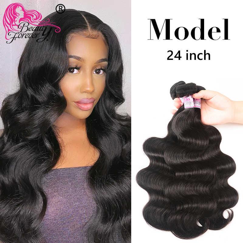 Beleza para sempre onda do corpo cabelo brasileiro tecer pacotes 100% remy extensões de cabelo humano 8-30 polegada frete grátis alta relação