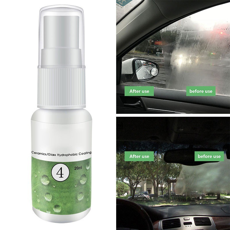 <font><b>20ml</b></font> <font><b>Car</b></font> Anti Rain Agent Multifunctional Ceramic/<font><b>Glass</b></font> <font><b>Nano</b></font> <font><b>Hydrophobic</b></font> Coating Windshield Anti-rain Agent Spray <font><b>Car</b></font> Care Kit image