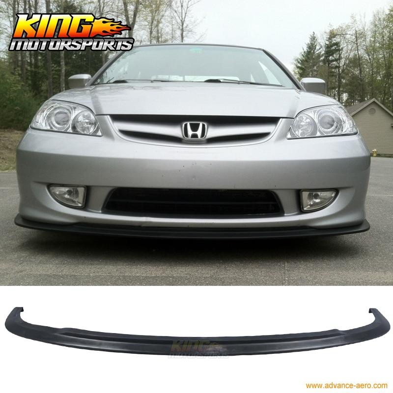 Type A PU Urethane Front Bumper Lip Spoiler Bodykit For 04 05 Honda Civic 2004 2005|bumper lip spoiler|front bumper lip|bumper lip - title=