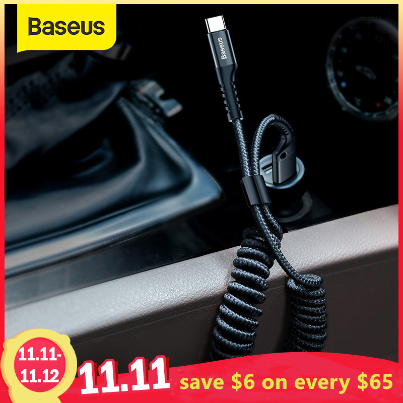 Baseus USB Type C Cable for xiaomi mi 9 mi 8 a2 for Car Styling Storage Mobile Phone 2A Charging Type C Cable for Samsung S9 S8|Mobile Phone Cables|   - AliExpress