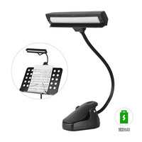 14 LED Clip on Music Stand Lights Portable Flexible Gooseneck Eye Protection Reading Book Light USB Bed Desk Lamp