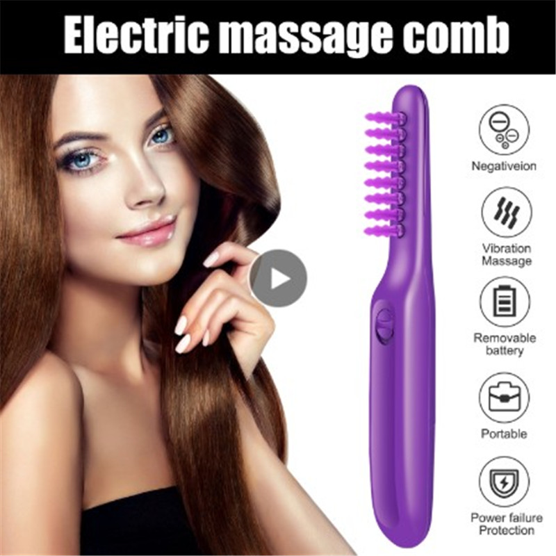 Electric Comb Styling Tools Hair Wet Or Dry Tame The Mane Electric Detangling Brush With Brush Cover Adults & Kids Smooth Knot