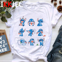 Lilo Stitch Harajuku Kawaii T-shirt Femmes Point Mignon Ullzang T-shirt 90s Drôle Dessin Animé T-shirt Style Coréen top T-shirts Femme(China)