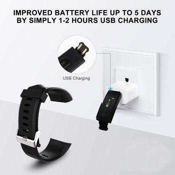 2021 New Smart Bracelet Men Women Smartwatch with Heart Rate Blood Pressure Monitor Fitness Tracker Smart Watch Sport Smartwatch 5