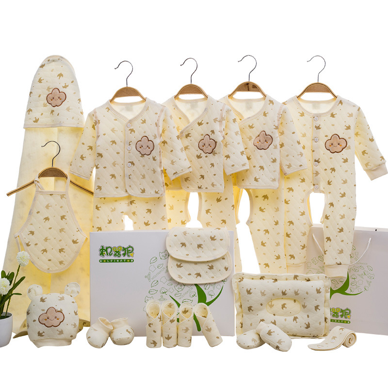 Newborns Clothes Baby Gift Package Primary Pure Cotton Spring And Autumn 0-3 Month 6 Set Newborn Baby Supplies Encyclopaedia