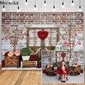 Mocsicka Valentinstag Kuchen Zerschlagen Fotografie Kulissen Rot Ziegel Wand Rose Garten Foto Requisiten Studio Booth Hintergrund