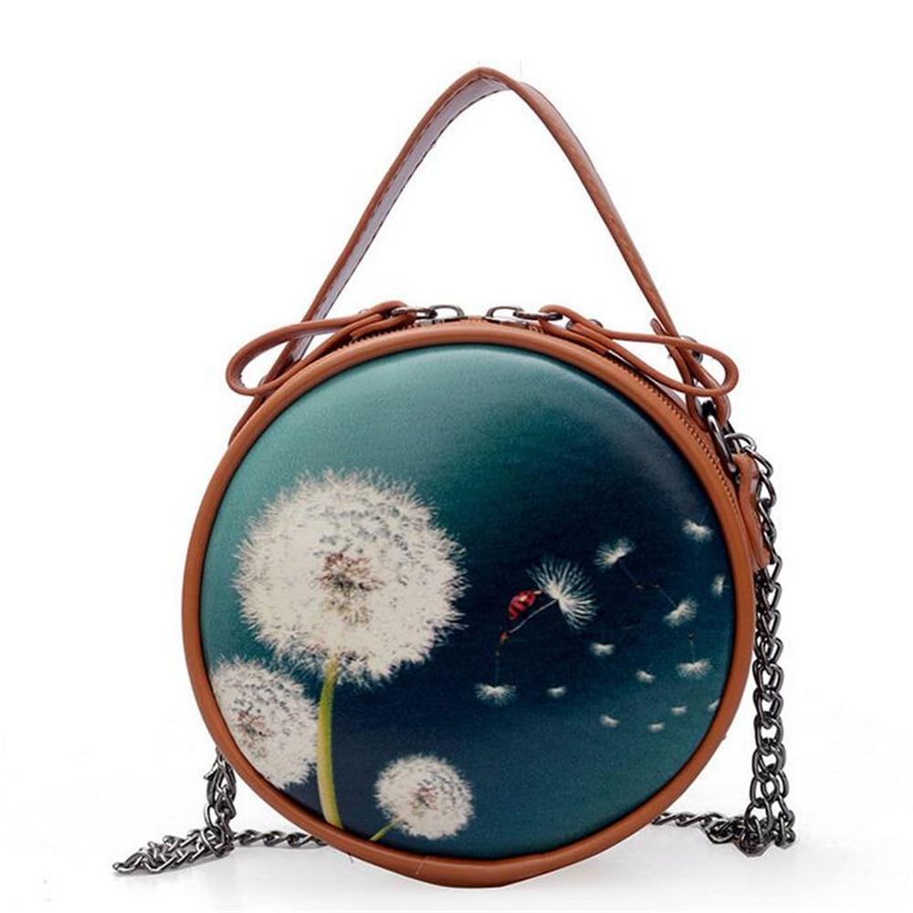 Circular Designer Women Shoulder Bag Leather femme Crossbody Evening Clutch Messenger Bag Ladies Round Bolsa Handbag Female