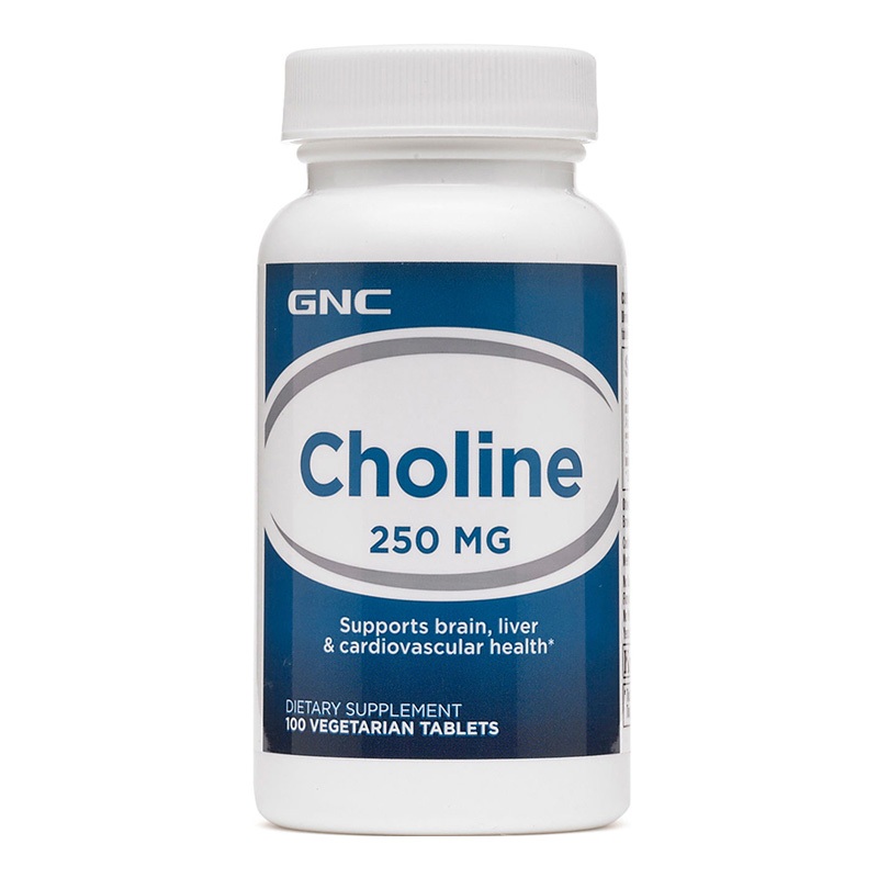 Free Shipping Choline 250 Mg Supports Brain Liver & Cardiovascular Health 100 Pcs