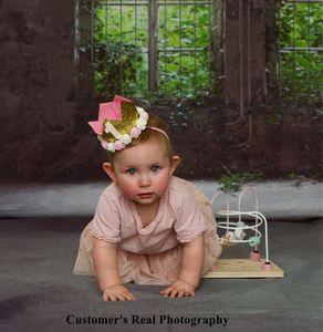 Image 3 - Laeacco 오래 된 집 창 풍경 녹색 나무 포도 나무 빈티지 Grunge 아기 초상화 사진 배경 사진 배경 Photocall
