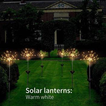 Fairy Bouquet Dandelion Lights Solar Energy Xmas Decor Landscape Lamp Festival 120LEDs Twinkle Creative Christmas Home