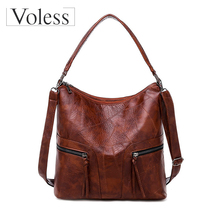 2019 New Women Handbag Leather Female Shoulder Bag Designer Retro Women Messenger Bags High Quality Large Tote Bolsas Feminina