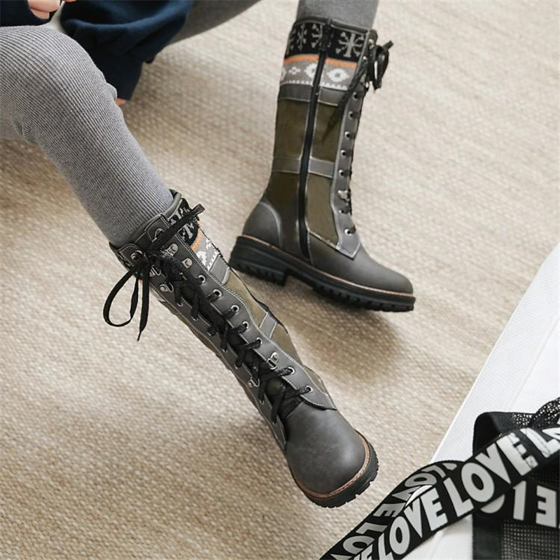 Handsome Martin boots female 2020 new thick with British wind breathable motorcycle boots short boots female large size boots