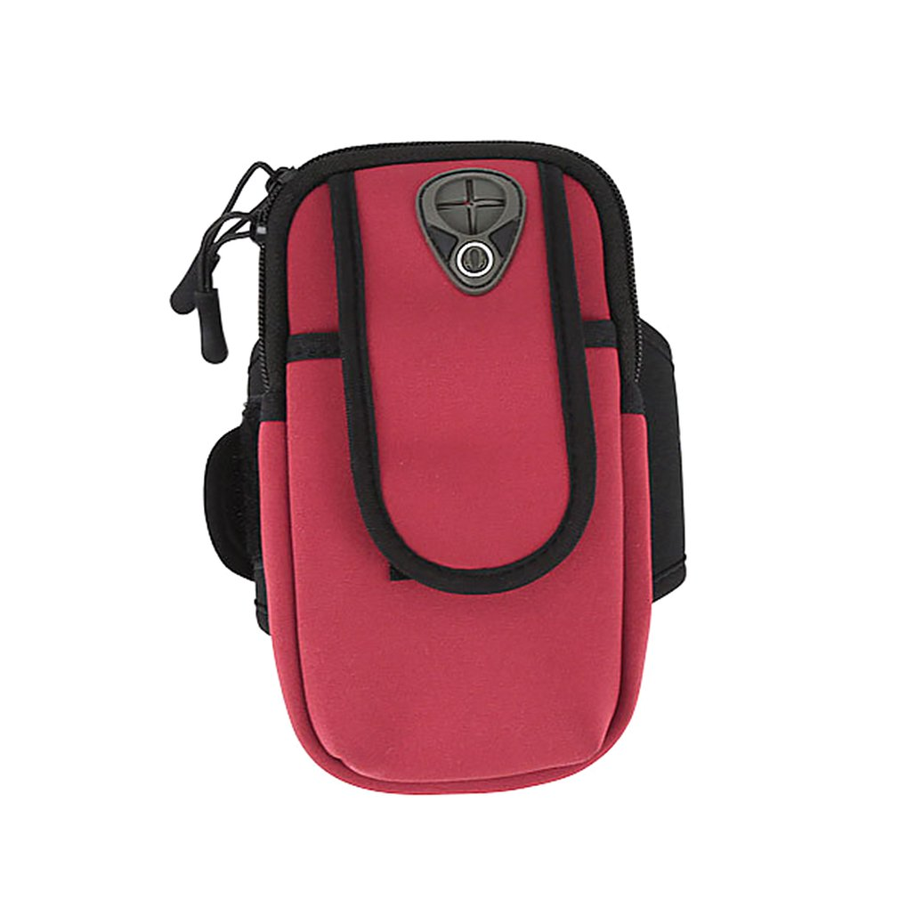 Bolsa de brazo deportivo bolsa de mu/ñeca dise/ño de orificio para auriculares bolsa de brazo de tel/éfono m/óvil