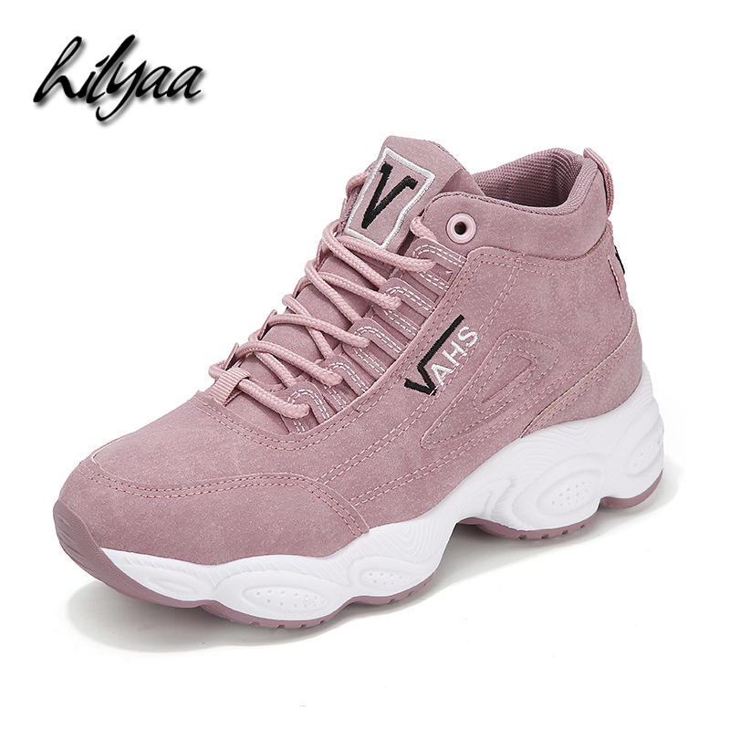 2020 HILYAA New Spring Sneakers Woman  Ankle Vulcanized Shoes Suede Female PU Leather Outdoor Sneakers Women Tênis Feminino