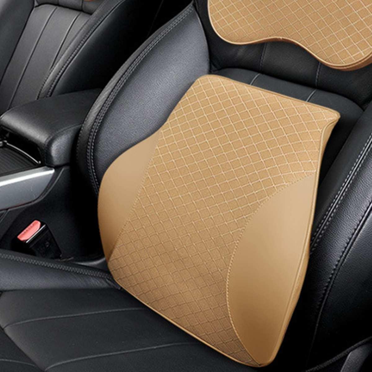 Soft Memory Foam Lumbar Support Back Massager Waist Cushion Pillow For Car Seat Pillows Relieve Pain Back Rest Lumbar Cushion