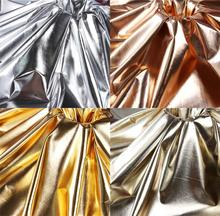 145cm*100cm Gold and silver soft mirror fabric Bright Mirror polyester pongee Thin PU Coated Fabric Waterproof designer fabric cheap TUOTAN 0 3MM Anti-Mildew Abrasion-Resistant 15082209 Finished Woven Home Textile Decorative Belt Chair Golf Furniture Sofa