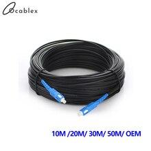 Cavo di derivazione esterno SC UPC Simplex FTTH Drop Patch Cable cavo Patch in fibra ottica monomodale a fibra singola
