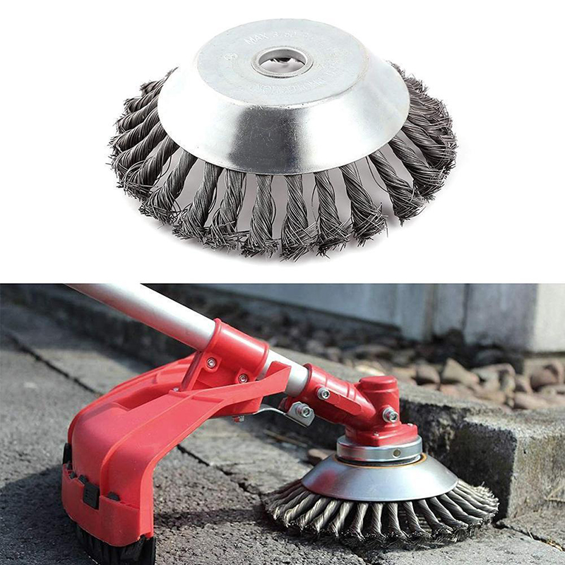Image 2 - New 150mm/200mm Steel Wire Trimmer Head Grass Brush Cutter Dust Removal Weeding Plate for Lawnmower Long Lifetime and Durable-in Brush from Tools