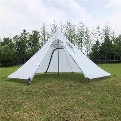 Namiot kempingowy piramida duży parasol przeciwsłoneczny schronisko tipi z otworem Stovepipe do wędrówek z plecakiem w Namioty od Sport i rozrywka na
